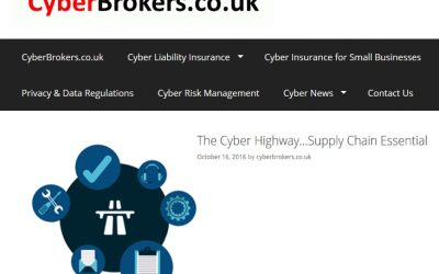 Cyberbrokers.co.uk 2016-10 : Cyber Highway launches in the UK to check suppliers progress on Cyber Essentials certification