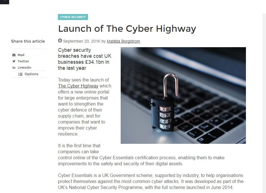 Future Scot – 2016-09 : Launch of The Cyber Highway