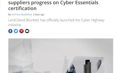 ITPro Portal – 2016-09 : Cyber Highway launches in the UK to check suppliers progress on Cyber Essentials certification